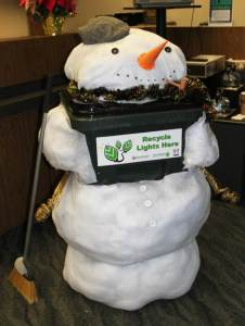 snowman trashcan