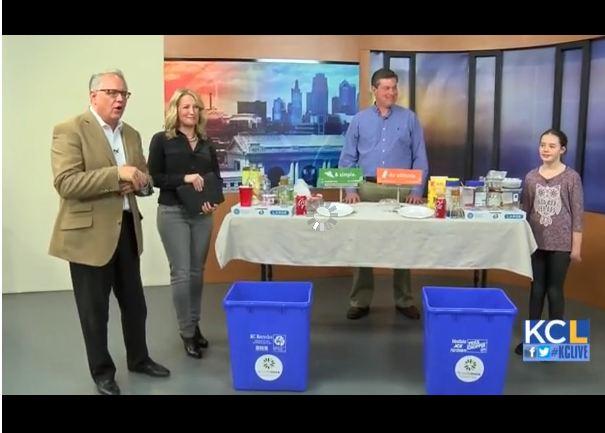 KSHB Super Bowl Recycling